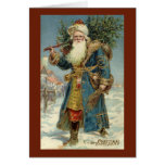 Vintage Christmas, Victorian Santa Claus Card