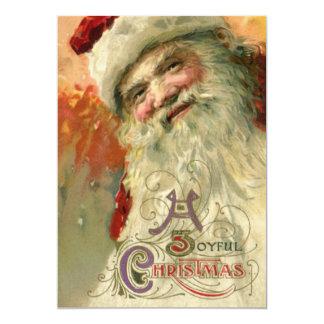 Vintage Christmas Victorian Santa Claus Invitation