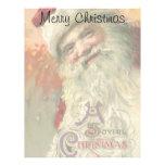 Vintage Christmas, Victorian Santa Claus Letterhead Design