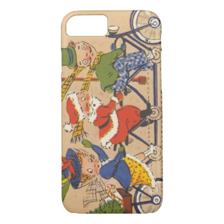 Vintage Christmas, Victorian Santa Claus on Bike iPhone 7 Case