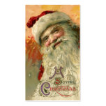 Vintage Christmas, Victorian Santa Claus Portrait Double-Sided Standard Business Cards (Pack Of 100)