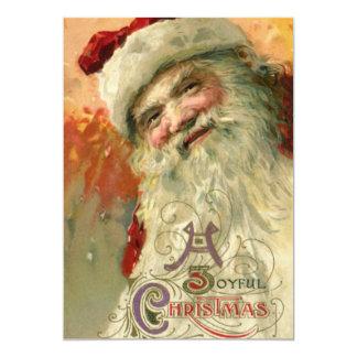 Vintage Christmas, Victorian Santa Claus Portrait Card