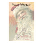 Vintage Christmas, Victorian Santa Claus Stationery