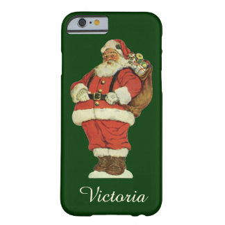 Vintage Christmas, Victorian Santa Claus with Toys Barely There iPhone 6 Case