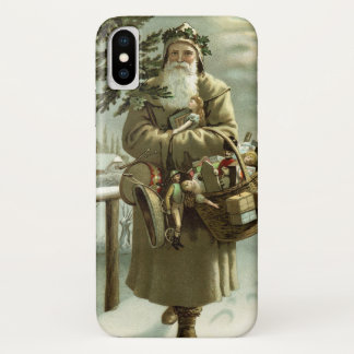 Vintage Christmas, Victorian Santa Claus with Toys Case-Mate iPhone Case