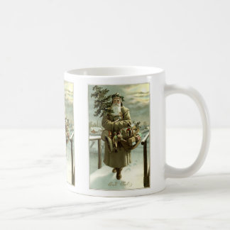 Vintage Christmas, Victorian Santa Claus with Toys Coffee Mug