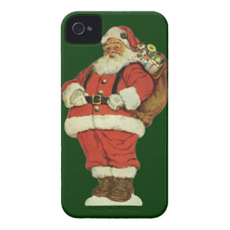 Vintage Christmas, Victorian Santa Claus with Toys iPhone 4 Covers