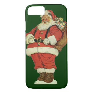 Vintage Christmas, Victorian Santa Claus with Toys iPhone 8/7 Case