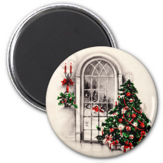 Vintage Christmas Window Magnet