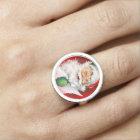 Vintage Christmas Winking Santa Ring