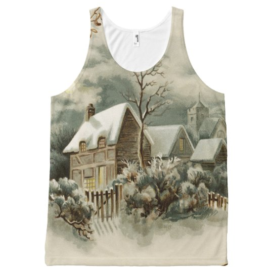 Vintage Christmas Winter Country Top