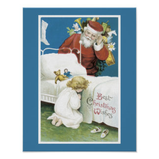 Vintage Christmas Wishes Poster