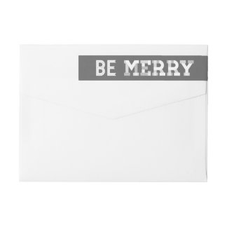 Vintage Christmas Wraparound Holiday Address Label