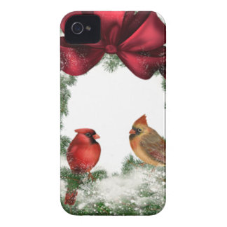 Vintage Christmas Wreath iPhone 4 Case-Mate Cases