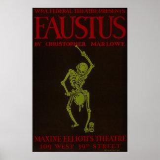 Vintage Christopher Marlowe Faustus Opera WPA Poster