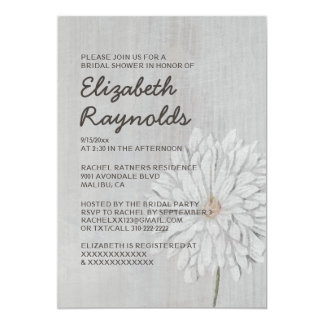 Vintage Chrysanthemum Bridal Shower Invitations