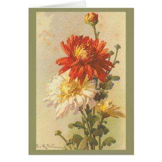 Vintage - Chrysanthemum's Card
