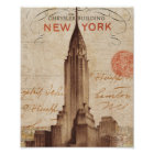 Vintage Chrysler Building in New York Poster