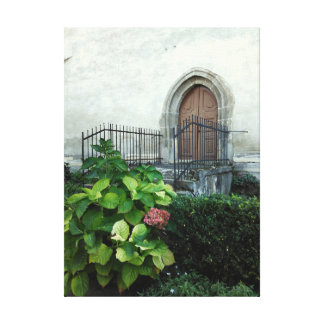 Vintage Church Door Canvas Print
