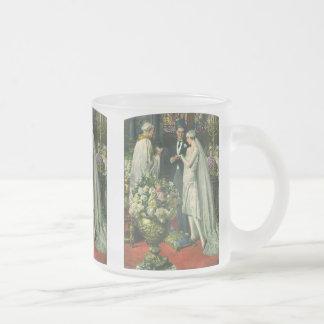 Vintage Church Wedding Ceremony; Bride and Groom Coffee Mugs