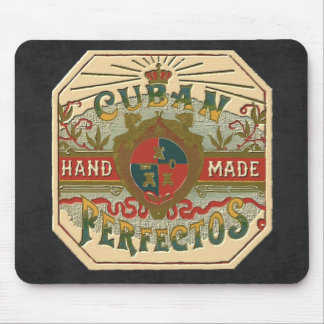 Vintage Cigar Ad Label: Cuban Perfectos Mousepads
