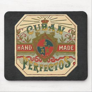 Vintage Cigar Ad Label Cuban Perfectos Tobacco Mouse Pad