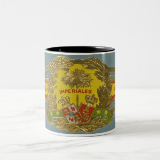 Vintage Cigar Band Label Art, Imperiales Cigars Two-Tone Coffee Mug