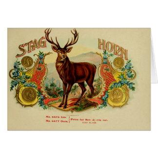 Vintage Cigar Box Label Card