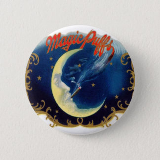 Vintage Cigar Box Label Magic Puff 2 Inch Round Button
