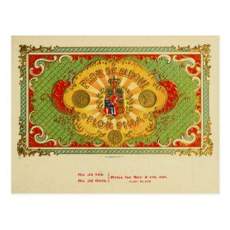 Vintage Cigar Box Label Postcard