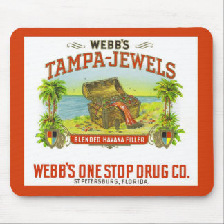 Vintage Cigar Graphic Tampa Jewels Mousepad