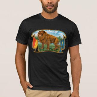 Vintage Cigar Label Art, African Lion in Savannah T-Shirt
