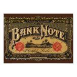 Vintage Cigar Label Art; Bank Note Finance Custom Announcements