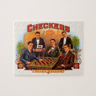 Vintage Cigar Label Art, Checkers Mild and Mellow Puzzles