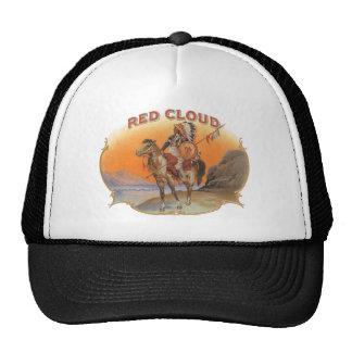 Vintage Cigar Label Art, Red cloud Indian on Horse Trucker Hat
