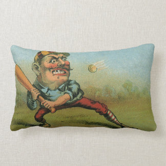 Vintage Cigar Label, Sports Baseball Tansill Punch Lumbar Pillow