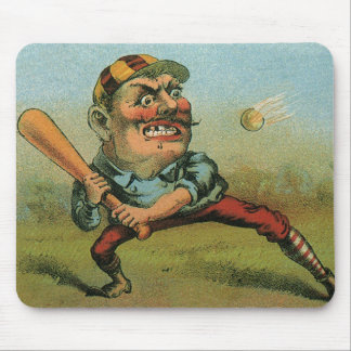 Vintage Cigar Label, Sports Baseball Tansill Punch Mouse Pad
