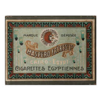 Vintage Cigarette Box Postcard