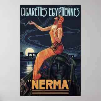Vintage Cigarette Poster