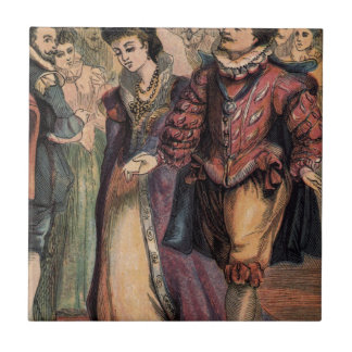 Vintage Cinderella and the Prince at the Ball Tile