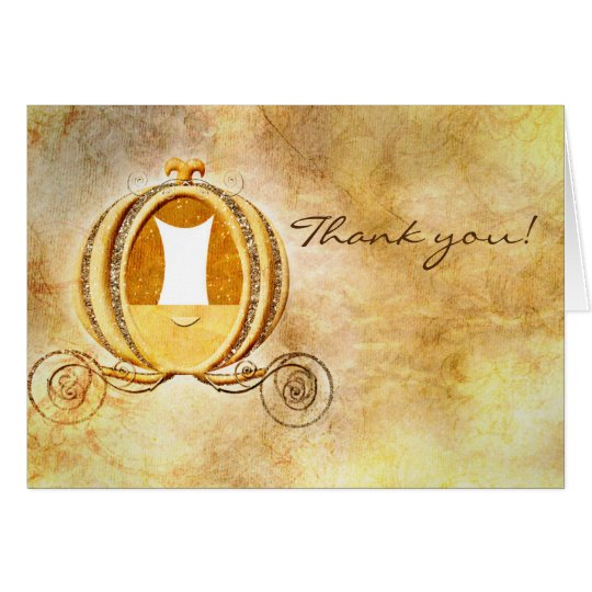 Vintage Cinderella Carriage Note Card Thank You