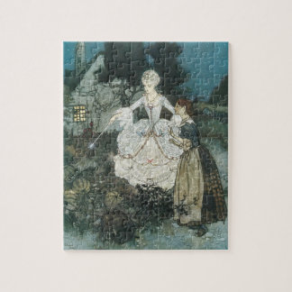 Vintage Cinderella Fairy Godmother by Edmund Dulac Jigsaw Puzzle
