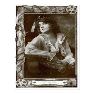 Vintage Cinema  Lilian Gish Postcard
