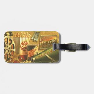 Vintage Cinema Luggage Tag With Strap