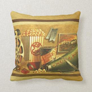 Vintage Cinema Throw Pillow