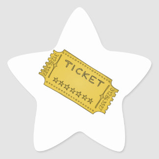 Vintage Cinema Ticket Star Sticker
