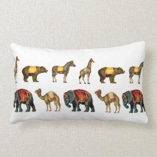 Vintage Circus Animals on Parade Pillow