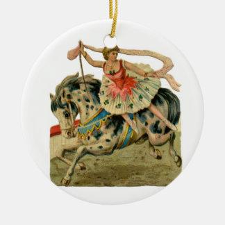 Vintage Circus Ballerina Ceramic Ornament
