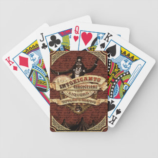 Vintage circus bicycle playing cards
