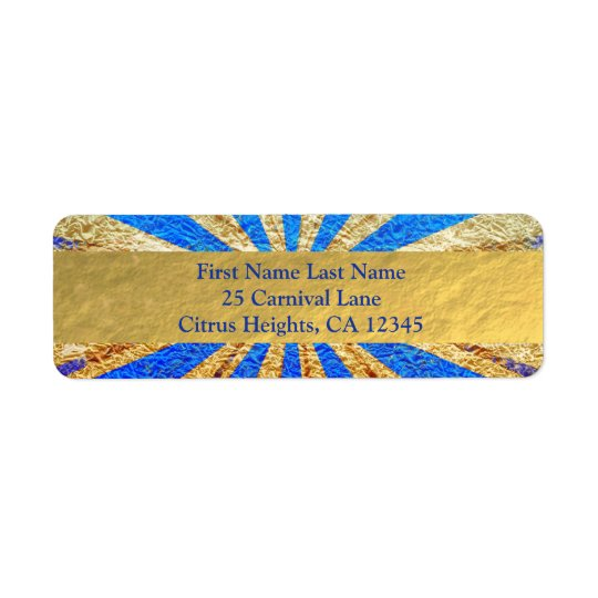 Vintage Circus Carnival Royal Blue Gold Foil Party